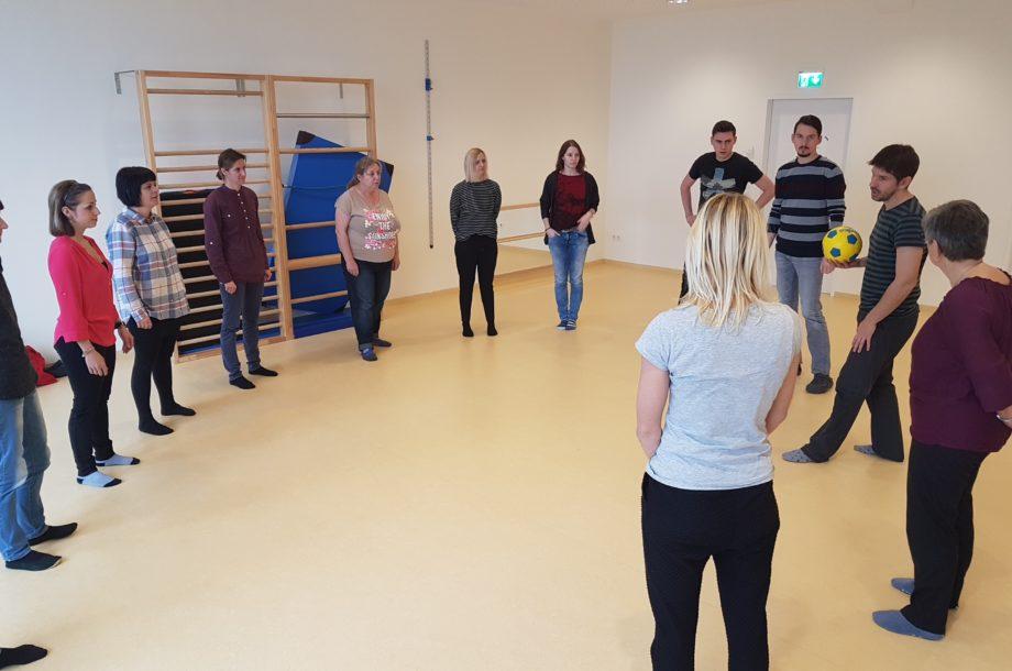 Workshop zum Thema Ballspiel im Zwergengarten