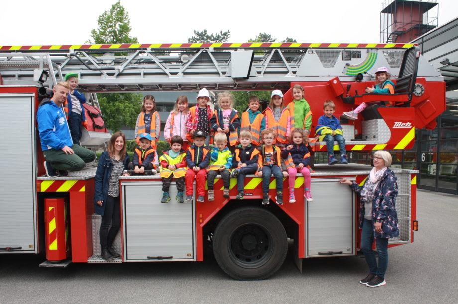 Zwergengarten KICA bei der Feuerwehr