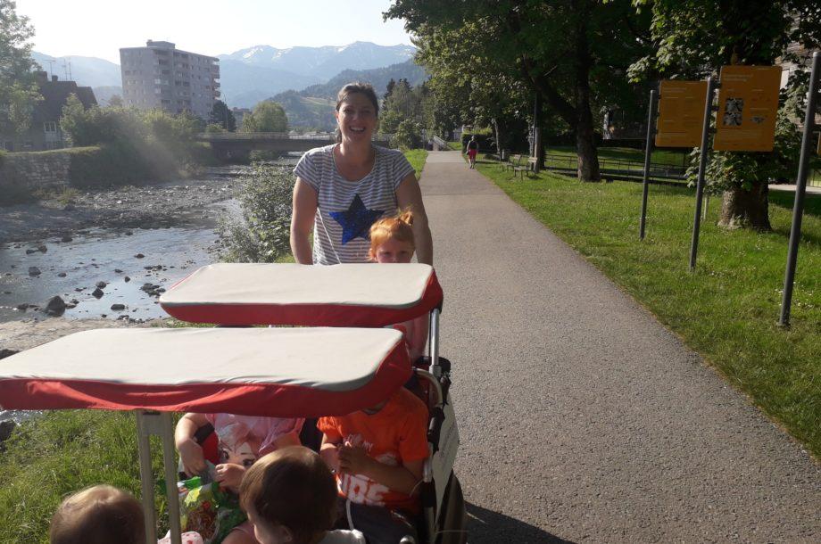 Tagesmütter Dornbirn: Ausflug an die Ach