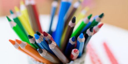 Kinder Zwergengarten Malen Stifte bunt