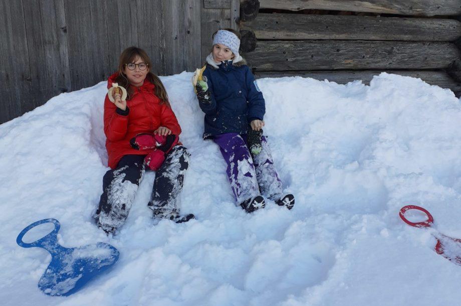 Jause im Schnee