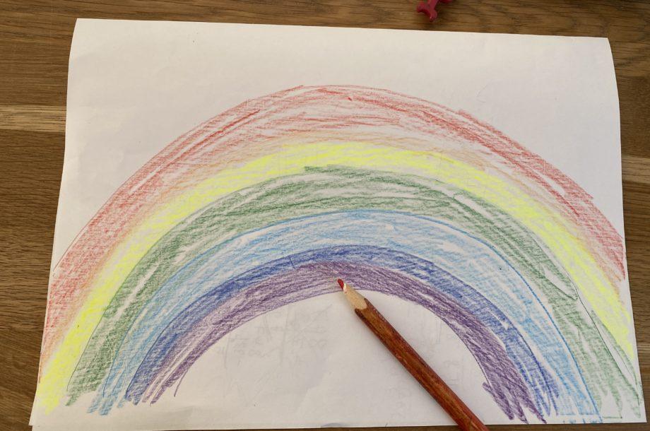 Regenbogen als Symbol der Hoffnung