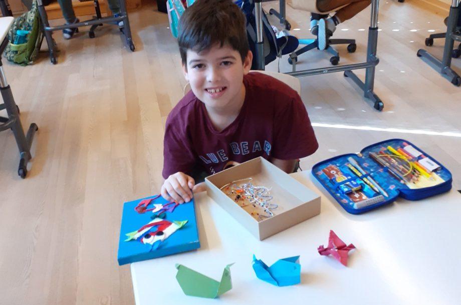 Origami-Kunstwerke falten