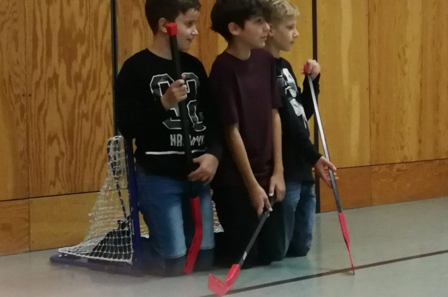 Beim Mini-Hockey keinen Ball reinlassen