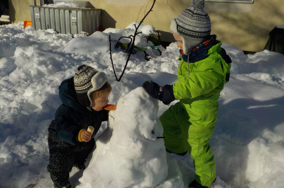 Schnee-Erlebnis im Zwergengarten Rohrbach